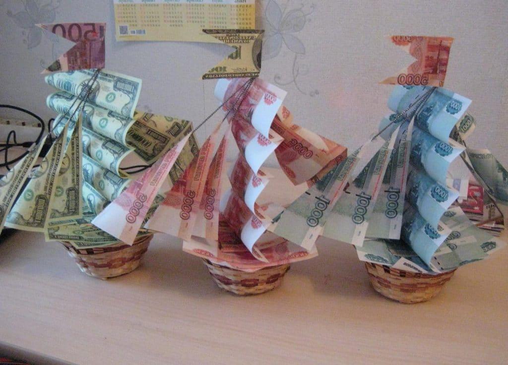 Подарки из денег своими руками на день рождения фото