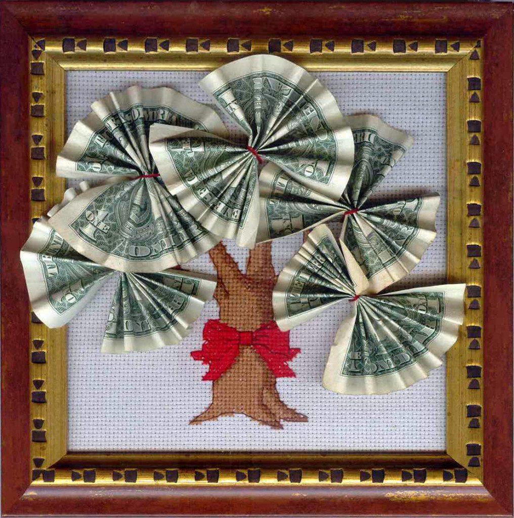 Картина своими руками из денег