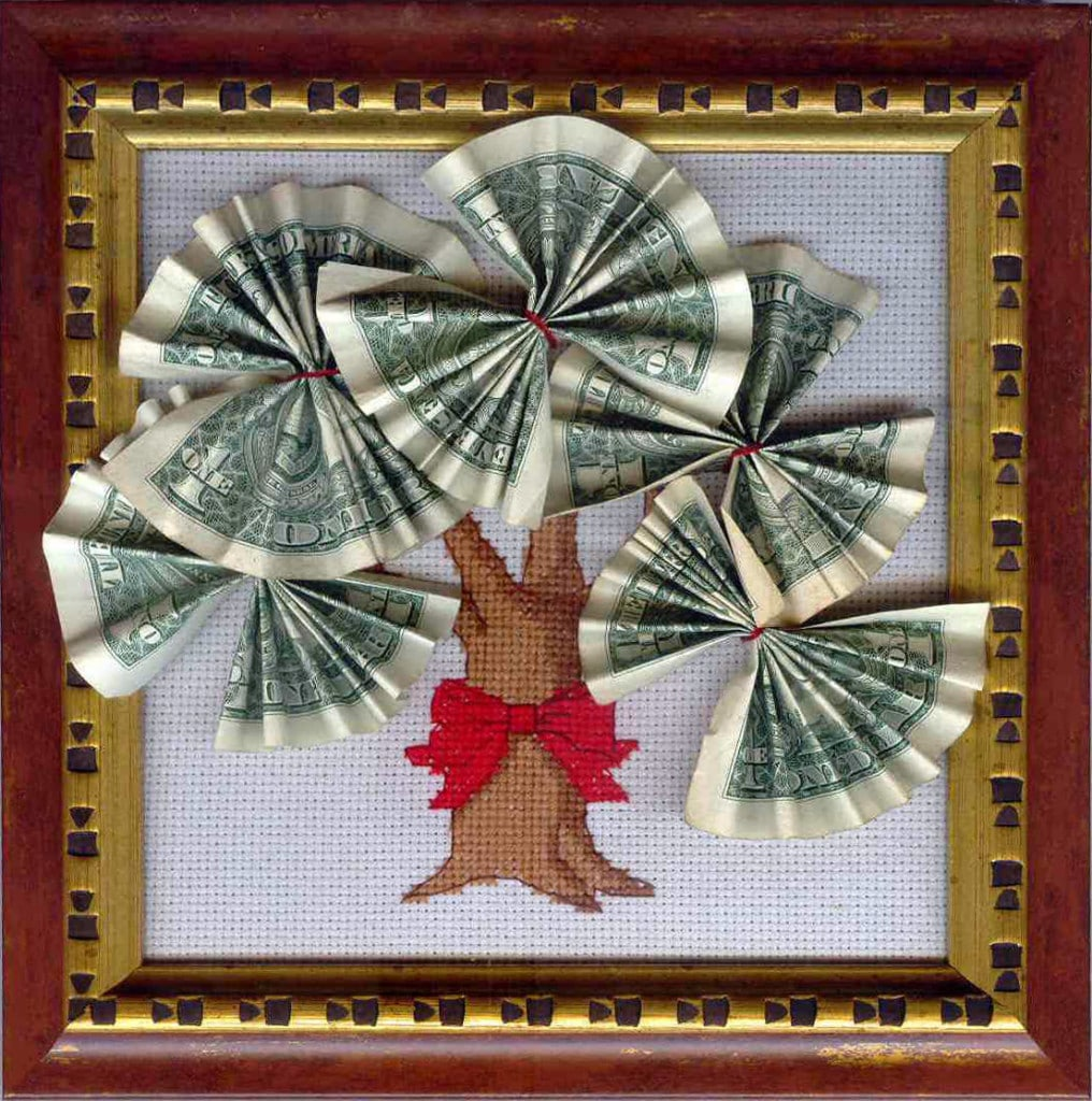 Картина из денег своими руками на день рождения