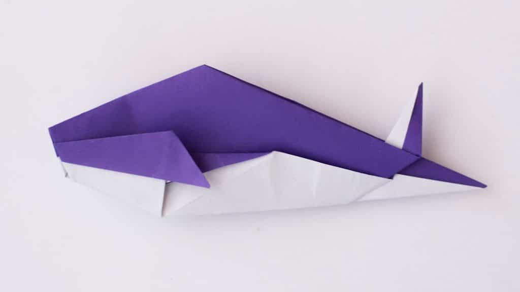 Простая рыбка оригами