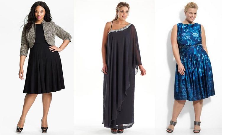 Праздничные платья для полных