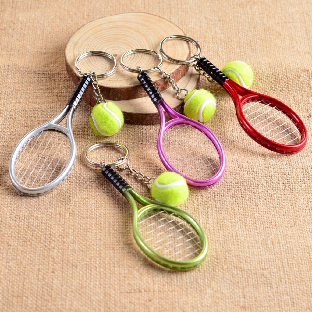 Брелки в форме теннисных ракеток