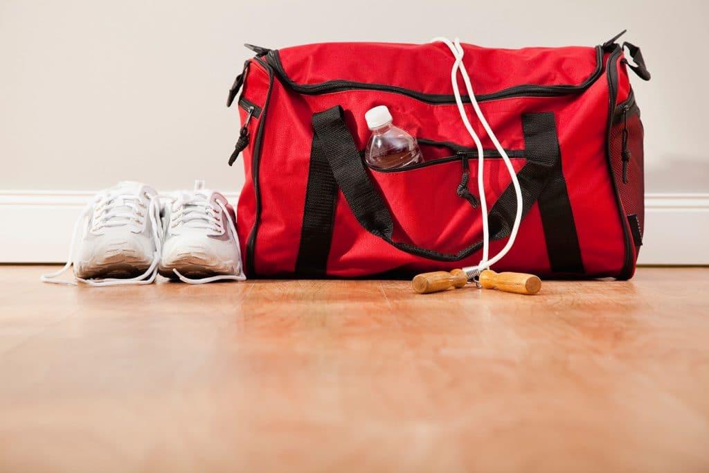 Сумка и скакалка для фитнеса